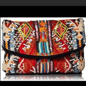 Sam Edelman Cait embellished flap clutch